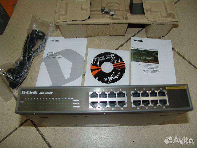 (switch) D-Link DES-1016D