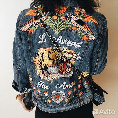 Вышивка на спине на куртке 438