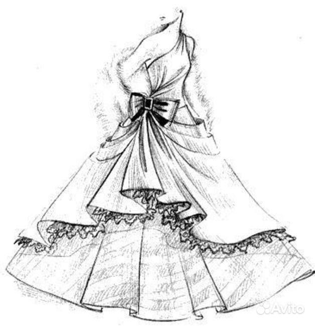 Как нарисовать платье без человека