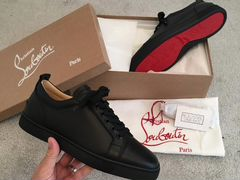 Кеды Louboutin louis junior MEN'S flat Black