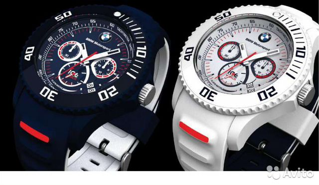 Часы BMW Motorsport White Chronograph ICE— фотография №1