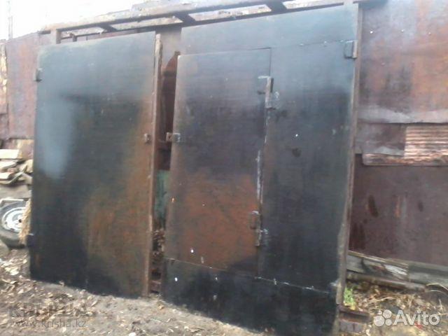 ворота гаражные металлические бу