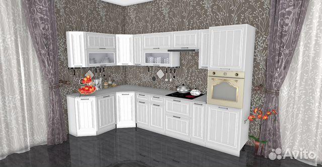 новая угловая кухня прага белая 1700x3200 мм купить в иркутской