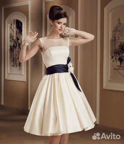 82b9b28c2e3 Выпускное вечернее свадебное короткое платье
