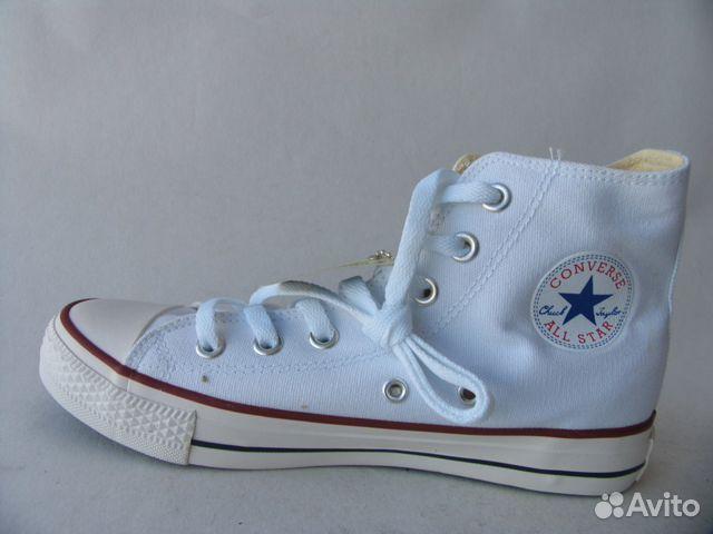 Кеды Converse All Star Белые Высокие Текстиль 35 купить в Санкт ... 789df417c09ad