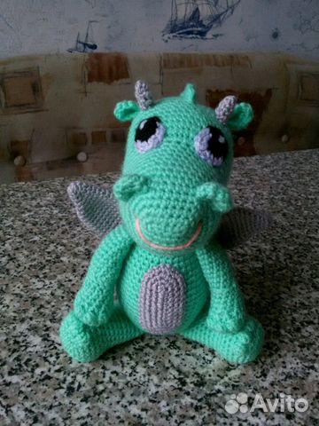 вязаная игрушка дракончик амигуруми Festimaru мониторинг