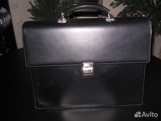 4bc09aa69dc1 Портфель мужской Montblanc (мст 104607) купить в Москве на Avito ...