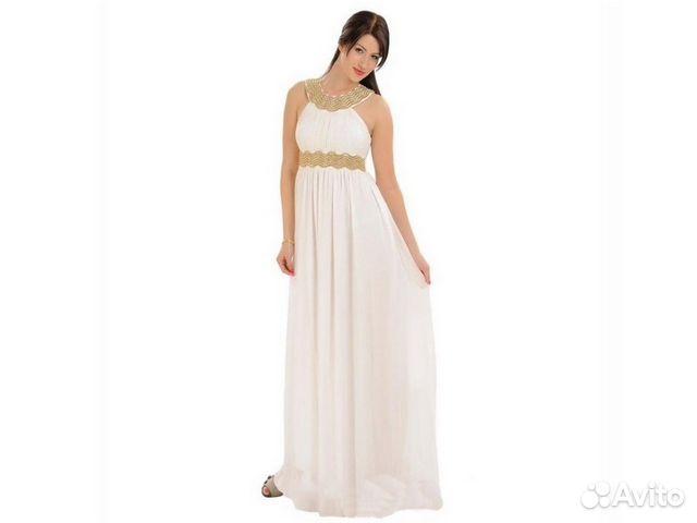6a99d117c53 Вечернее бело-золотое платье в греческом стиле купить в Москве на ...