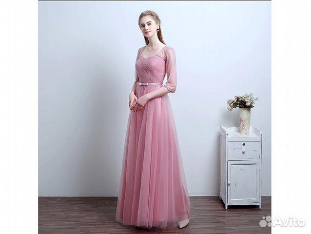 dbfc54a3369 Платье в пол нежно-розового цвета на выпускной купить в Москве на ...