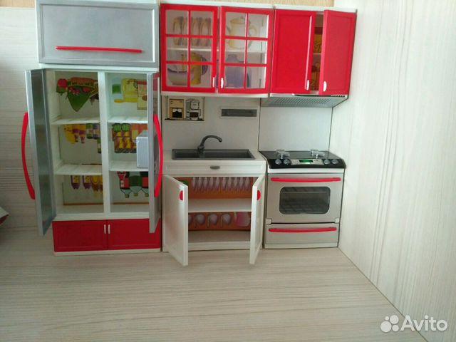 кухня для кукол барби с посудой купить в москве на Avito