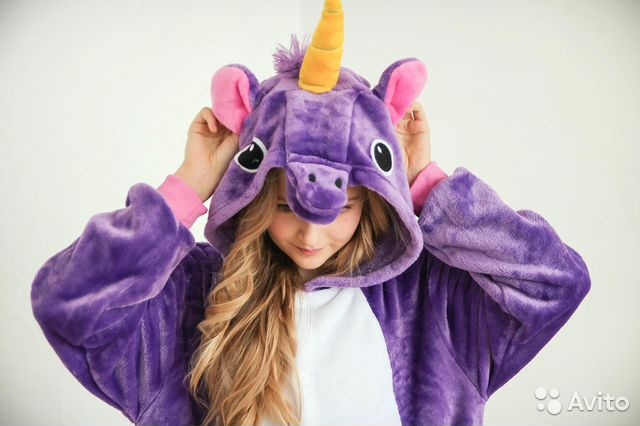 Кигуруми пижамы опт и розница фиолетовый единорог купить в Москве на ... a7f544a6e2ffa