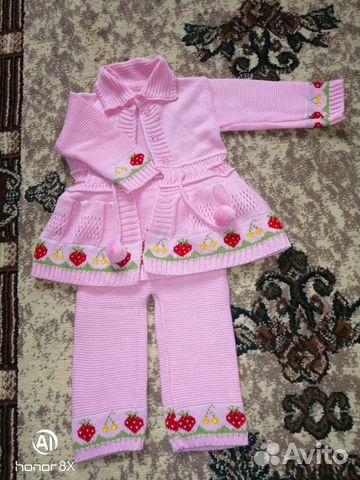 вязаный костюм для девочки купить в астраханской области на Avito