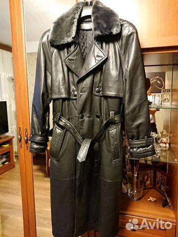 8213aa2f874 Демисезонное кожаное пальто купить в Санкт-Петербурге на Avito ...