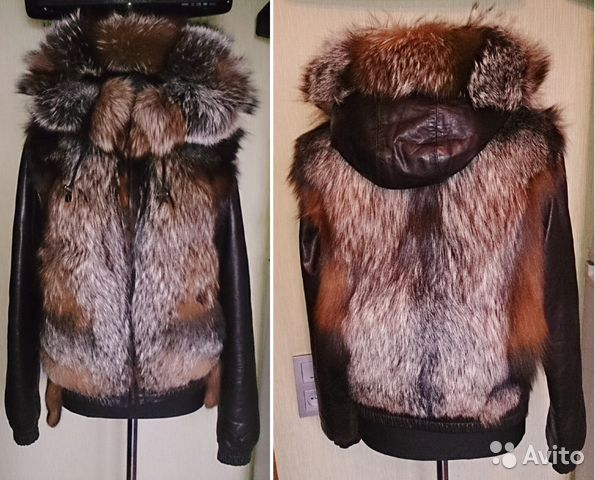 Куртка кожаная с мехом лисы 44 - 46 р купить в Москве на Avito ... f90664894b4