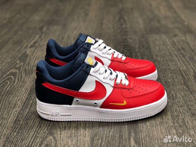 ac969730 Кроссовки Мужские Nike Air Force 1 07 Red/Blue купить в Москве на ...