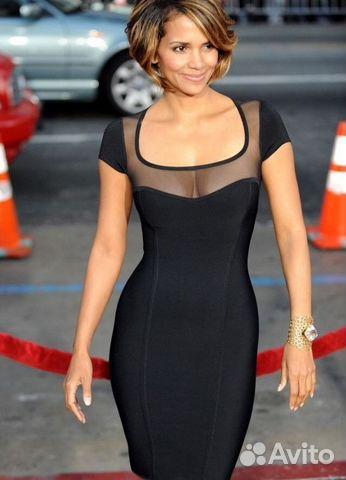 3b7f60aaa8a Платье бандажное Черное с сеткой прозрачной Herve купить в Кабардино ...