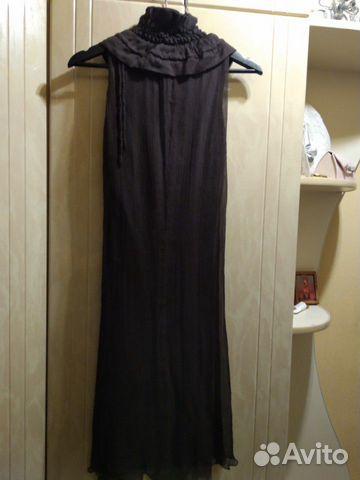 Платье, нат. шелк р.44-46,48  89038115339 купить 4