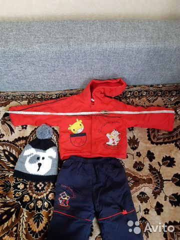 Детский костюм и шапка купить 7