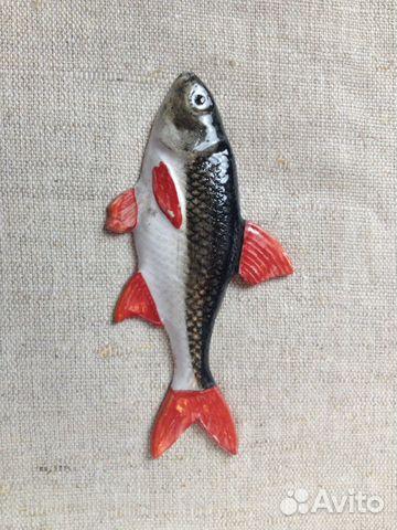 Керамическая рыбка-магнит Голавль