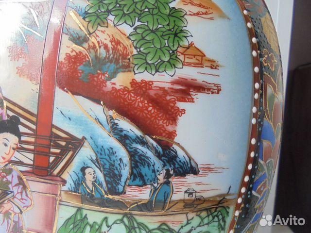 Ваза Китай костяной фарфор роспись позолота  89105009779 купить 6