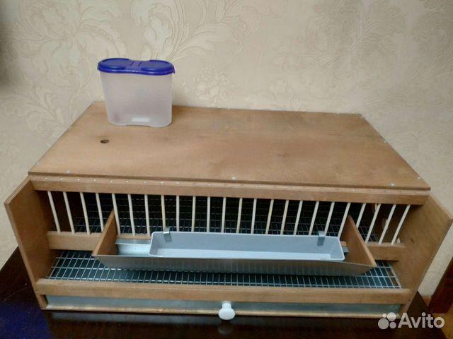 Внешний вид клетки: деревянный и металлический  89896502404 купить 3
