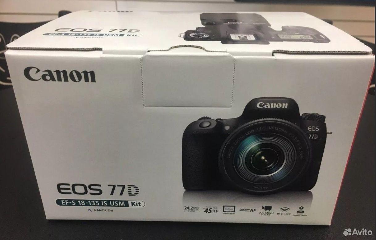 Зеркальная камера Canon EOS 77D Kit 18-135 IS USM