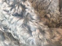 Полушубок голубой оверсайз натуральный — Одежда, обувь, аксессуары в Москве