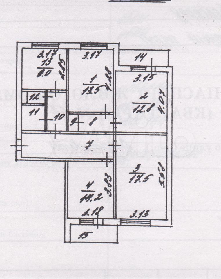 4-к квартира, 89.1 м², 5/9 эт.