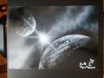 Картины ручной работы с космическим пейзажем