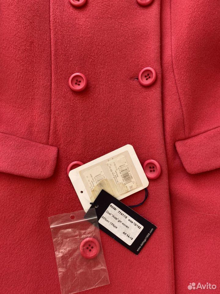 Пальто для девочки, Del Lago, 158, Италия, шерсть  89053212536 купить 5