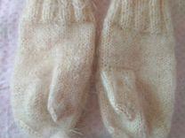 Пуховые носочки и варежки