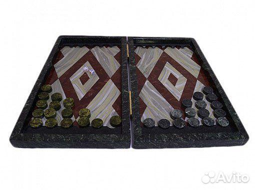 Подарочные нарды из натурального камня змеевика  89122288587 купить 4