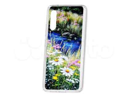 Чехол-накладка Samsung Galaxy A90 5G Kruche Print Ромашки у ручья