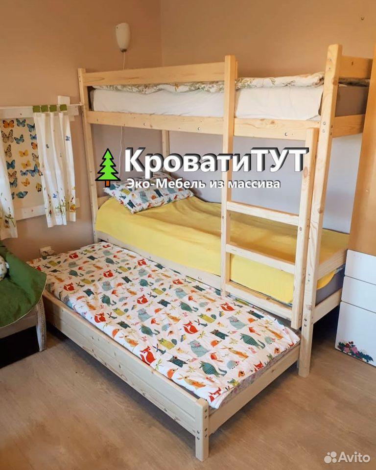 Кровать Двухъярусная Домик Чердак из массива сосны  89061701070 купить 7