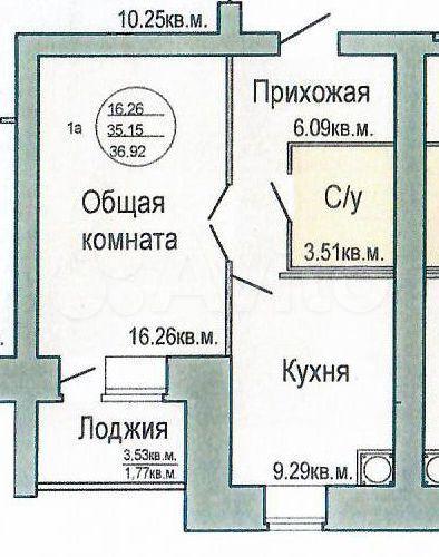 1-к квартира, 37 м², 9/10 эт.  89278826910 купить 1