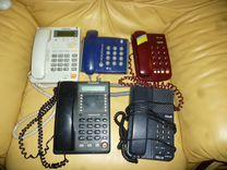Несколько городских телефонов LG, texet panasonic