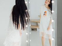 Гримерные зеркала в раме из массива дерева