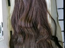Натуральные волосы на заколка №4