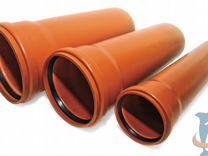 Труба канализационная Ф200-3м рыжая (Насхорн)