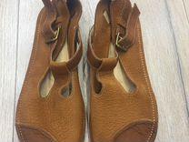Кожаные сандалии на широкую стопу 39р